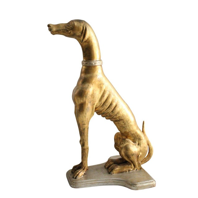 Gold Whippet Statue - Image 1 of 2