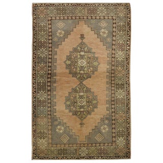 Vintage Turkish Oushak Rug - 3′8″ × 6′1″