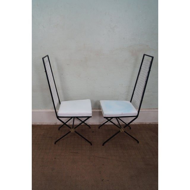 Vintage Hollywood Regency Directoire Dining Chairs - Image 3 of 10