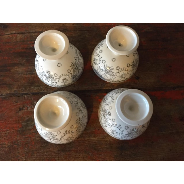 Image of Hand Painted Porcelain Dessert Coups - Set of 4