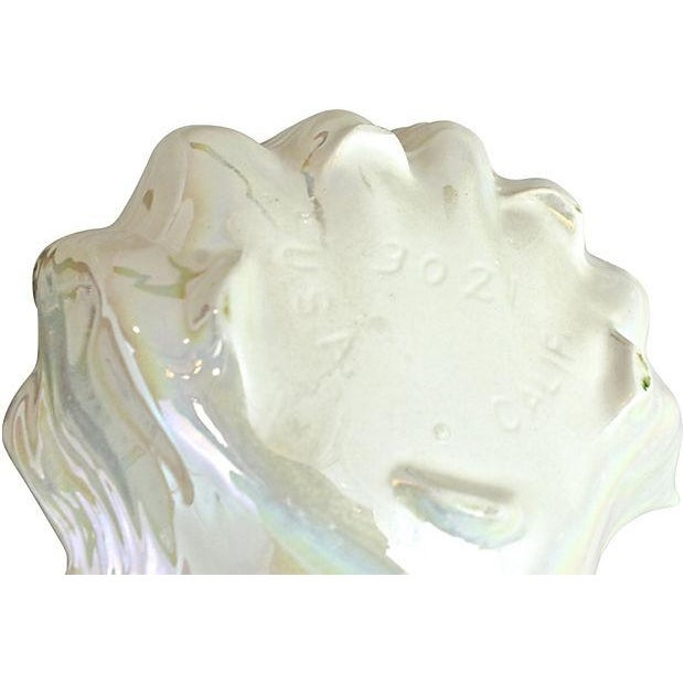 Opalescent Clamshell Dish Bowl - Image 5 of 5
