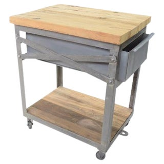 Industrial Bedside Tables - A Pair