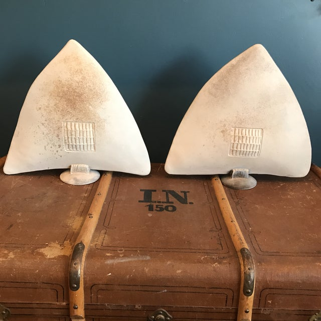 Large Ceramic Arrowhead Sculptures - a Pair - Image 4 of 11