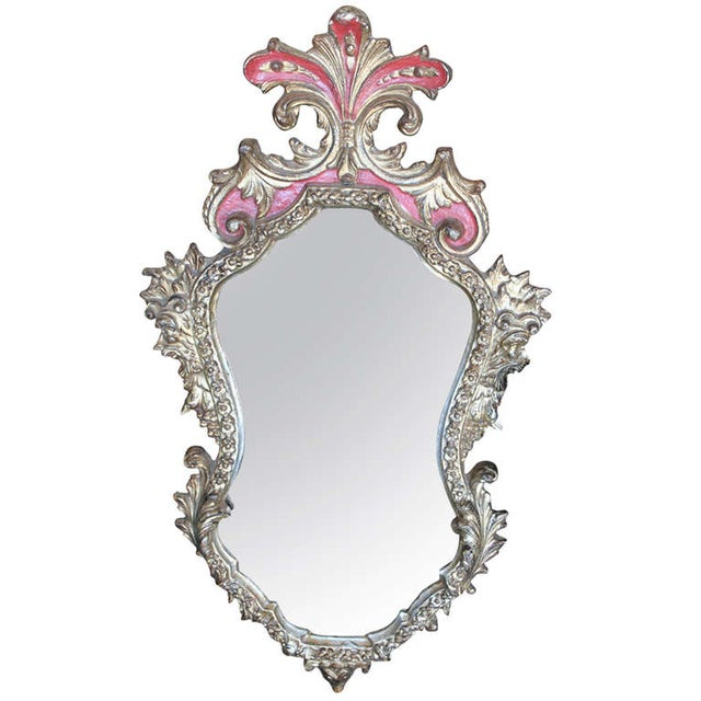 Rococo Style Gilt & Red Frame Mirror - Image 1 of 3