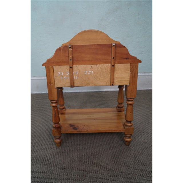 Image of Ethan Allen Pine Rustic One-Drawer Nightstand
