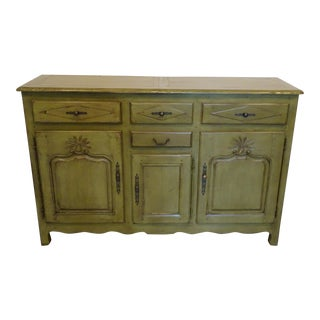 Hand-Painted Distressed Finish Buffet