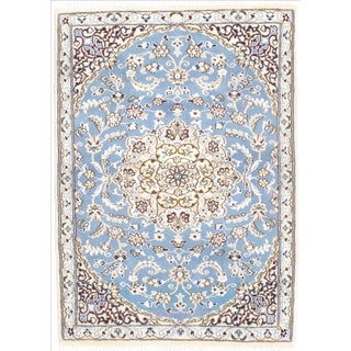 "Persian Nain Silk & Wool Rug - 2'11"" x 4'2"""