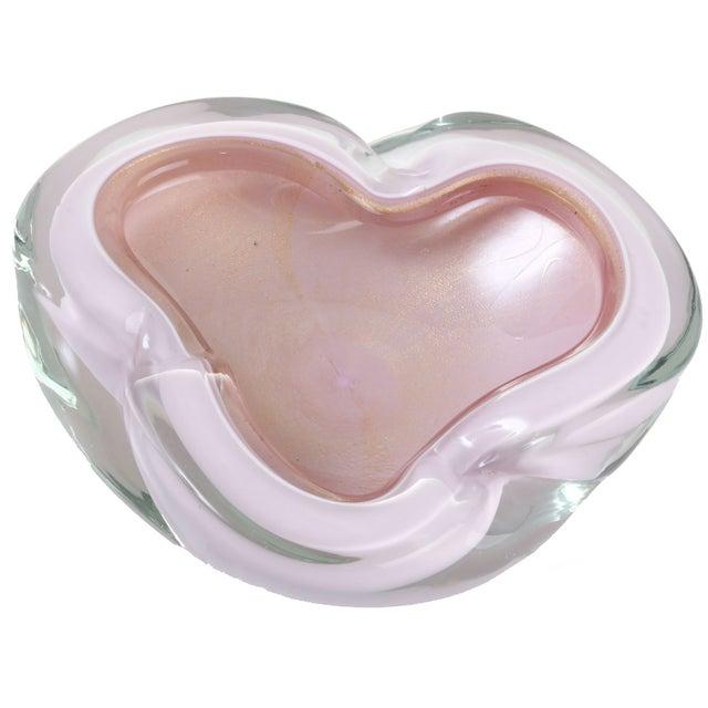 Image of Handblown Pink Murano Bowl