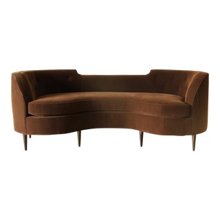 Emporium Home Laurene Brown Velvet Sofa