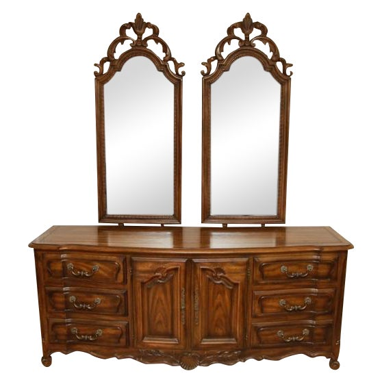 Century Furniture Double Mirror Dresser - Image 1 of 11