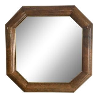 Mid-Century Goatskin & Brass Frame Mirror