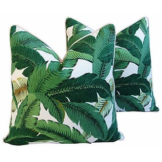 Custom Tropical Iconic Banana Leaf Feather/Down Pillows - a Pair