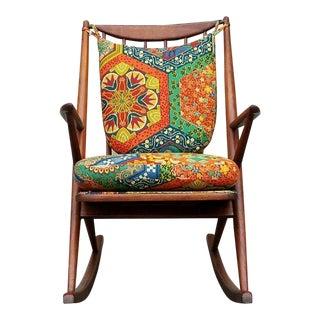 Frank Reenskaug Vintage Teak Rocking Chair