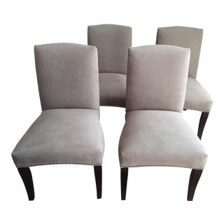 Taupe Microsuede Upholstered Dining Chairs - Set of 4