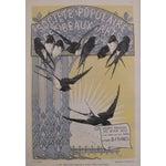 Image of Antique Black Birds Matted Art Deco Poster