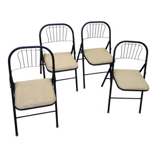 Mid-Century Folding Chairs, Set of Four