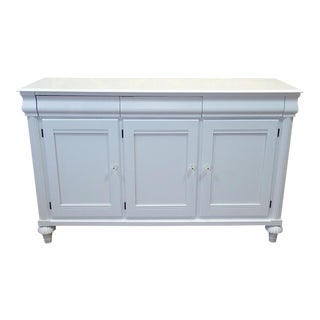 Ethan Allen British Classics White Lacquered Dining Room Sideboard Buffet