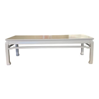 White Lacquered Vintage Chinoiserie Coffee Table