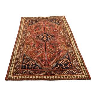 Vintage Qashghi Persian Rug - 4′2″ × 6′8″