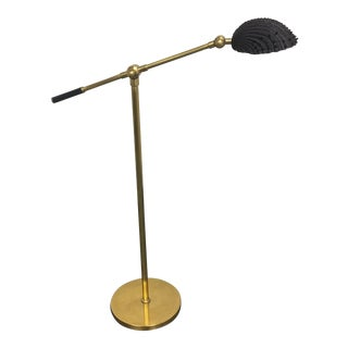 Maitland Smith Black Brass Shell Floor Lamp