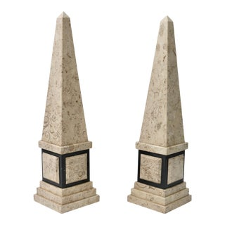 Tan & Black Marble Obelisk