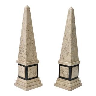 Tan & Black Marble Obelisk
