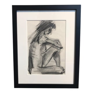 Vintage Charcoal Nude Drawing