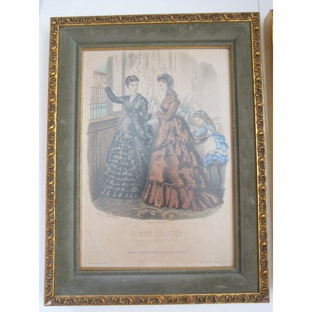 Antique French Fashion Prints - A Pair - Image 3 of 8