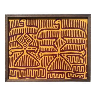 Mola Bird Panel Textile Art