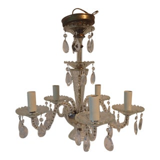 Vintage Crystal 5-Arm Chandelier