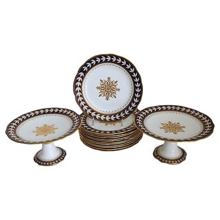 Aynsley Porcelain Snowflake Serving Set - 14 Pieces