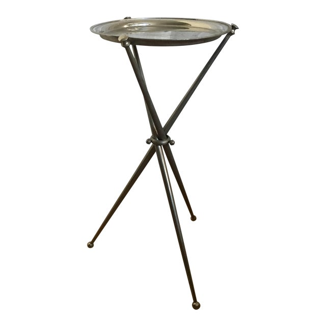 chrome martini side table chairish