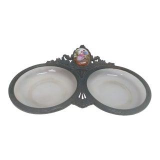 Antique Victorian Bubble Glass Ashtray
