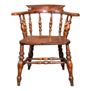 Set of 6 English Captain's Chairs, circa 1860