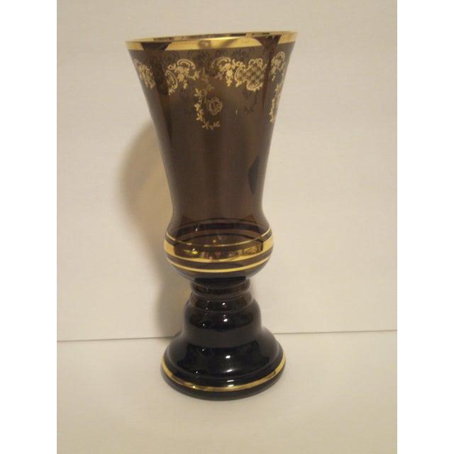 Image of Joska Kristall Victorian Style Vase, German 1960's