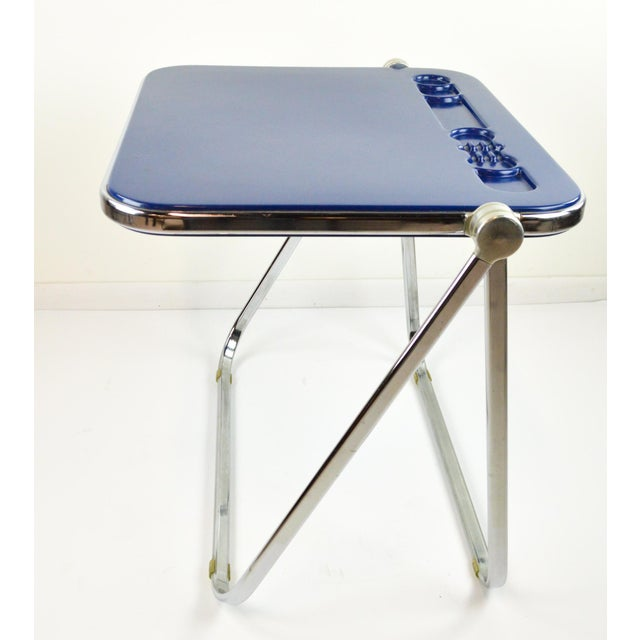 "Giancarlo Piretti ""Platone"" Desk by Castelli - Blue - 1970's - Image 5 of 8"