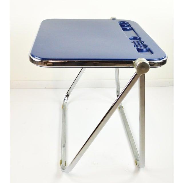 "Image of Giancarlo Piretti ""Platone"" Desk by Castelli - Blue - 1970's"