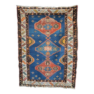 "Vintage Shirvan Tribal Rug - 3'5"" X 4'8"""