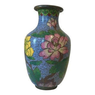 Blue Floral Chinoiserie Vase
