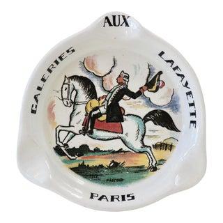 Sarreguemines Galeries Lafayette Paris Porcelain Ashtray