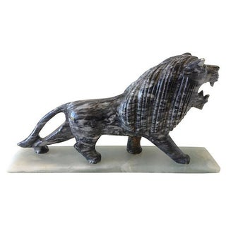 1970's Marble Carved Lion