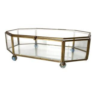 Octagon Shaped Glass Paneled Box
