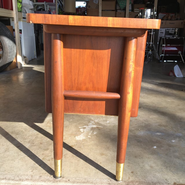 Mid-Century Modern Credenza Buffet Console Floating Top Legs - Image 7 of 10