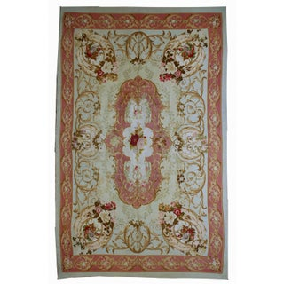 1860s Antique French Aubusson Rug - 4′7″ × 6′7″