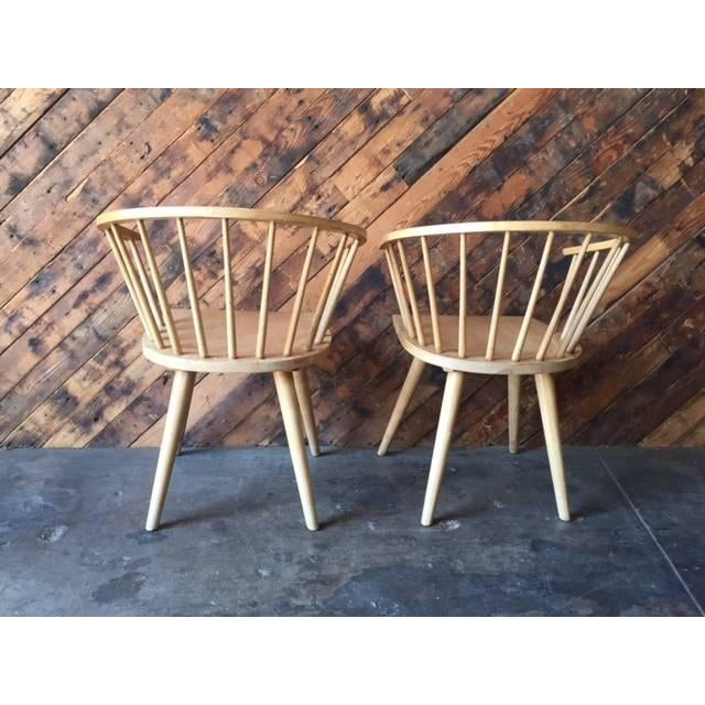 Mid Century Spindle Chairs - Set of 4 - Image 4 of 6