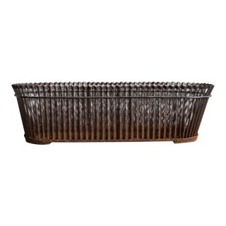 Perforated Iron Jardiniere Basket