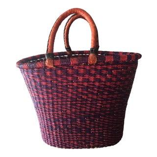 Handmade Pink & Purple Picnic Basket