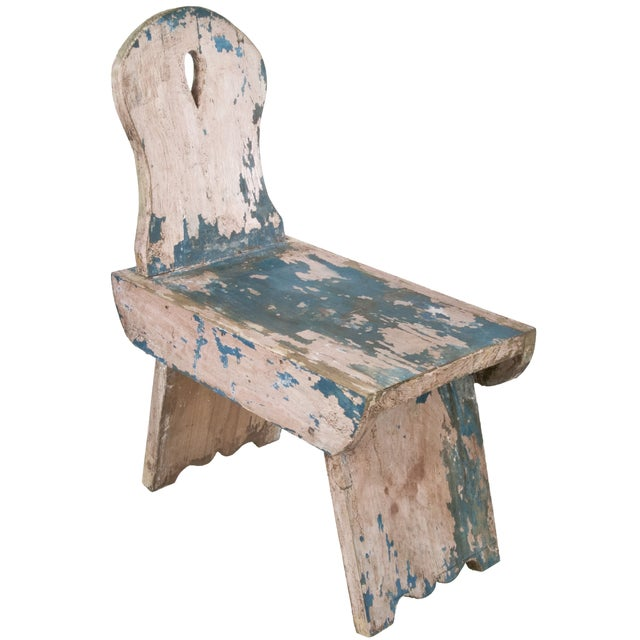 French Farmhouse Milking Stool - Image 1 of 5
