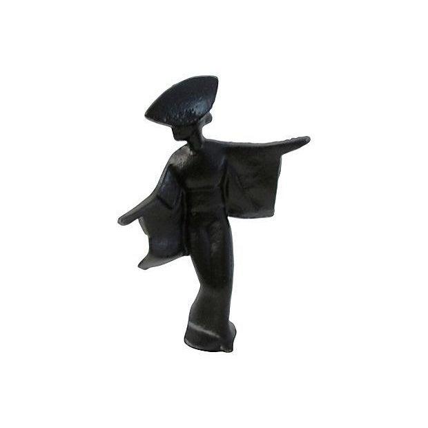 Mid-Century Cast Iron Black Geisha Dancers - S/3 - Image 3 of 4
