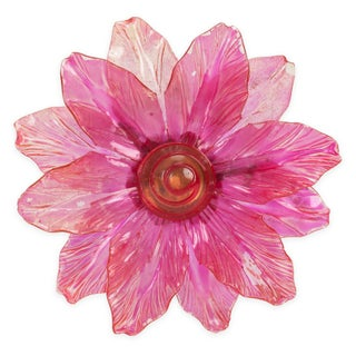 Pink Celluloid Flower Pin